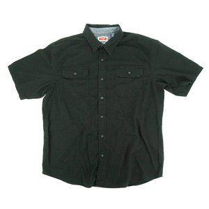 Wrangler Men's Button Shirt Flex Comfort Black (L)